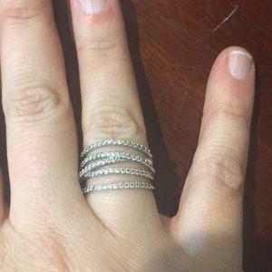 Stella & Dot pave ring